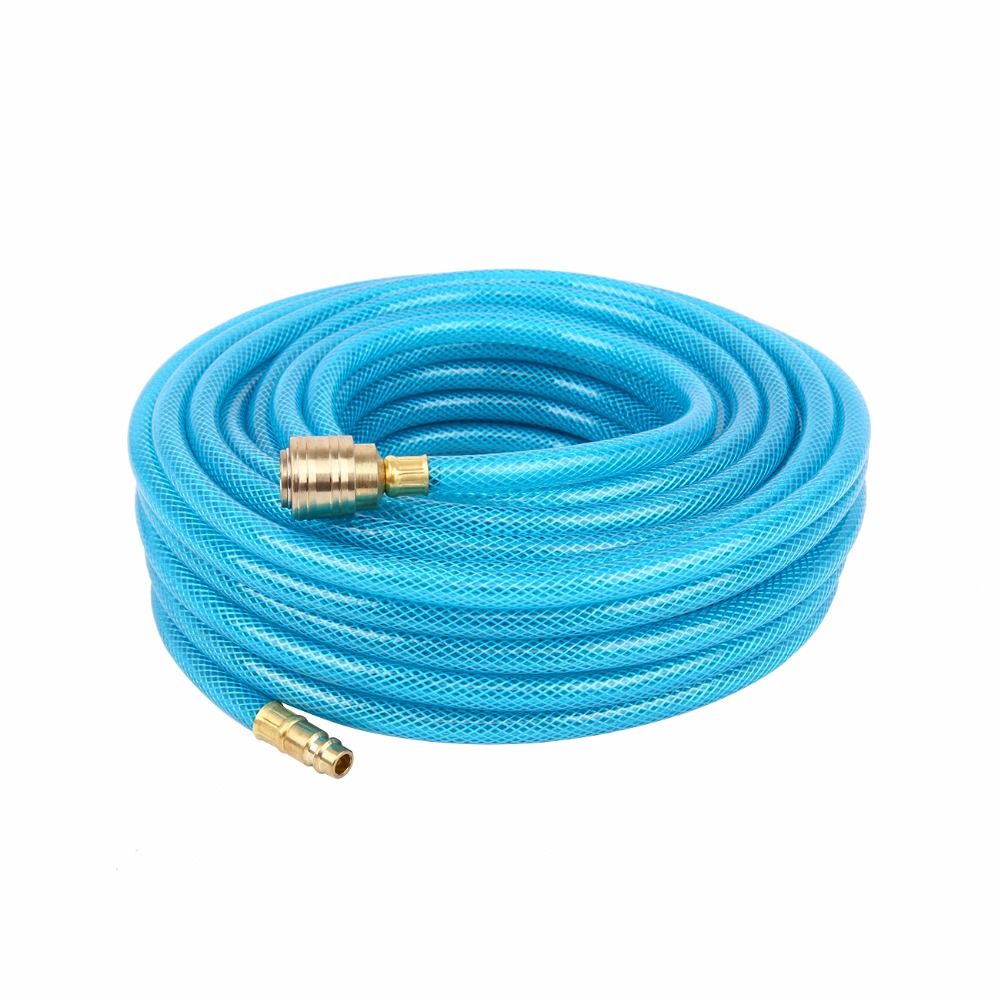 ( Ship from Germany) 20M 12mm compressed air hose Pipe for air Pneumatic tools Compressor hose air compressor 1 2bsp 2 way hose pipe inline manifold block splitter teal blue