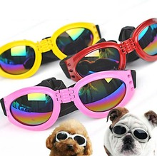 Cool Foldable Dog Pet Glasses Sunglasses waterproof Big Eyewear Fashionable Protection Goggles UV
