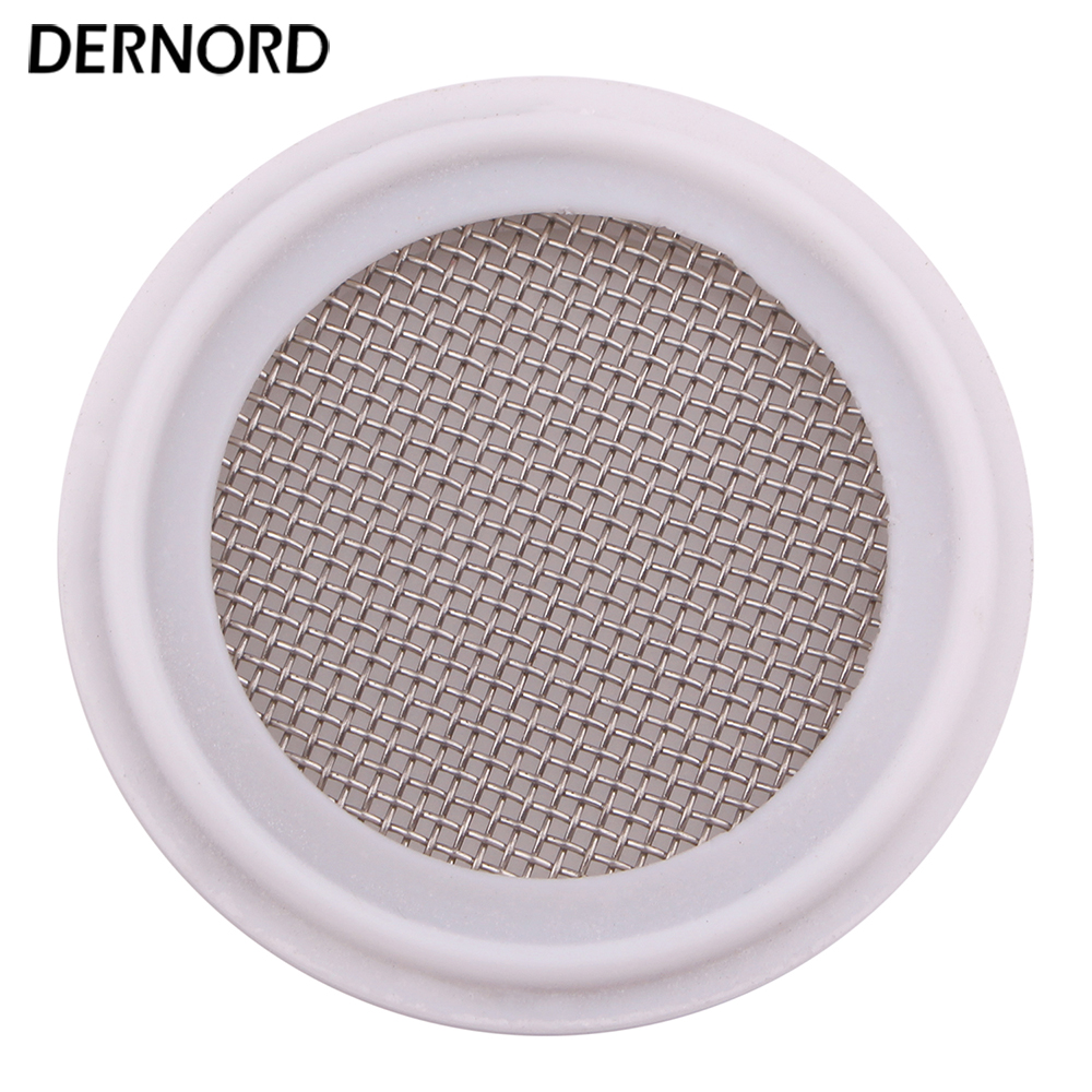 DERNORD 20 Mesh Sanitary Gasket, 1.5'' - 4'' Tri Clamp PTFE Seal Strip, Stainless Steel Screen 11 2 tri clamp viton screen mesh gaskets 150 mesh 100 micron without smell
