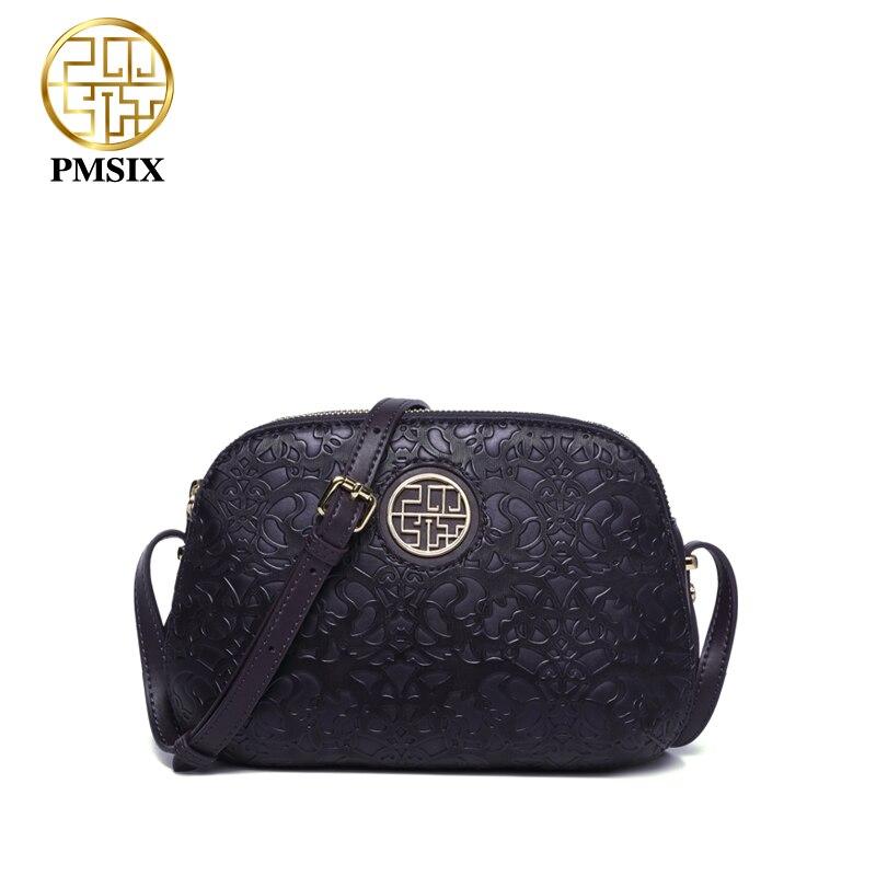 Pmsix ใหม่หรูหราผู้หญิงไหล่กระเป๋า crossbody กระเป๋าสำหรับสุภาพสตรีสีแดง/สีม่วงขนาดเล็ก PU messenger กระเป๋า soft คุณภาพ-ใน กระเป๋าหูหิ้วด้านบน จาก สัมภาระและกระเป๋า บน   1