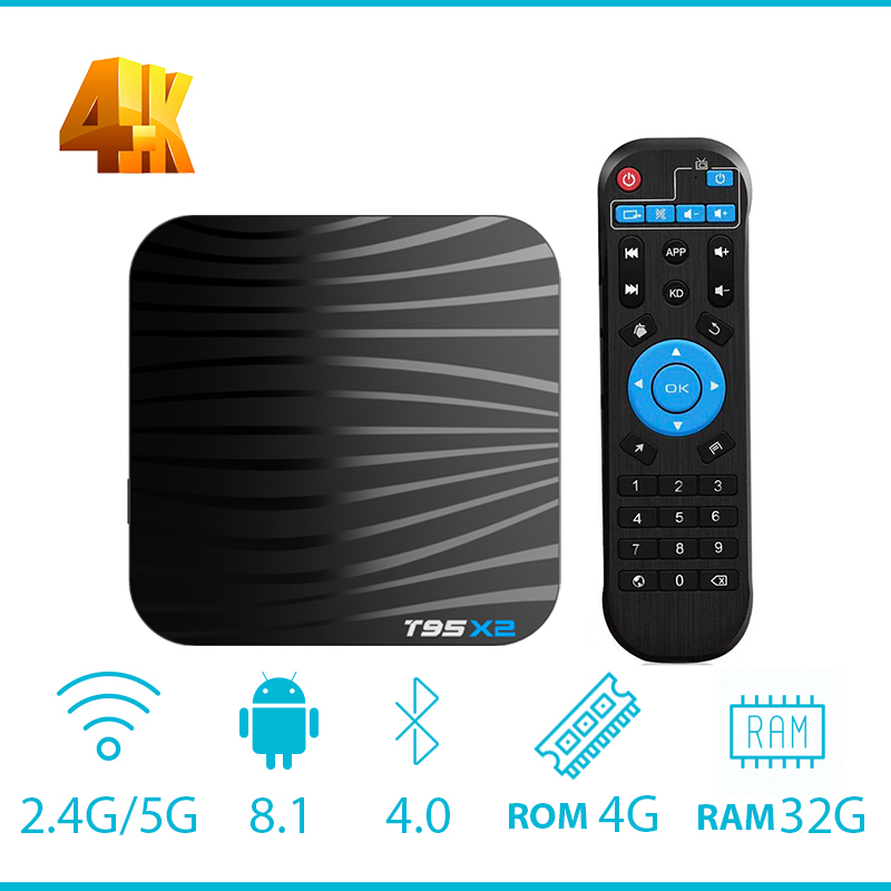 T95X2 Android 8 1 TV Box Amlogic S905X2 Quad Core Media Player USB 3 0 2