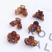 12pcs Claw Hair Clips Novelty Acrylic Women Accessories Trendy Claws Transparent Brown Bow Crown Flower Girls Hairpins