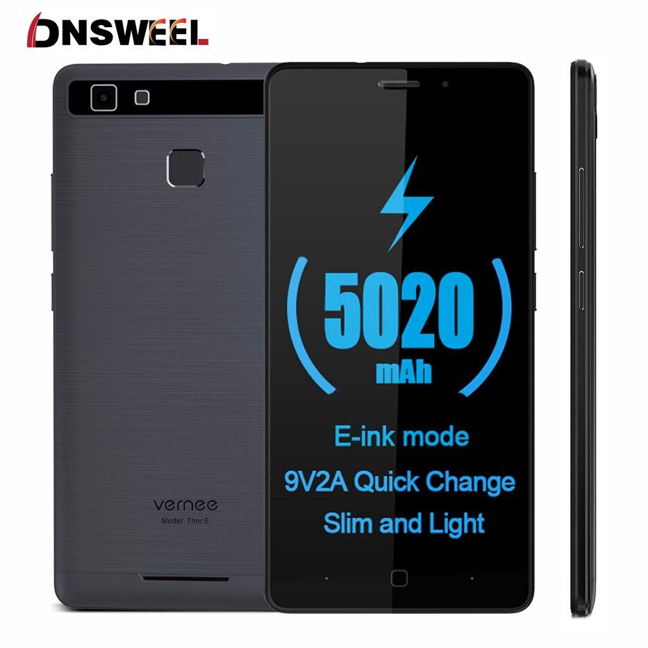 Vernee thor e smartphone 3g ram 16g rom 5020 mah huella digital 5 \
