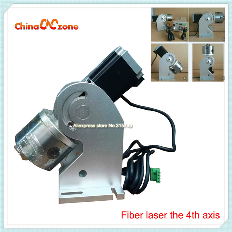 Rotary Axis 20W/30W/50W Fiber Laser Machine Rotary Axis for Laser Marking Laser Fiber Machine Spare Parts Fixture China Hot ce certificated jinan acctek cheap hot sale laser machine spare parts
