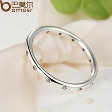 925 Sterling Silver Droplets Stackable Finger Classic Ring ( 2 colors)
