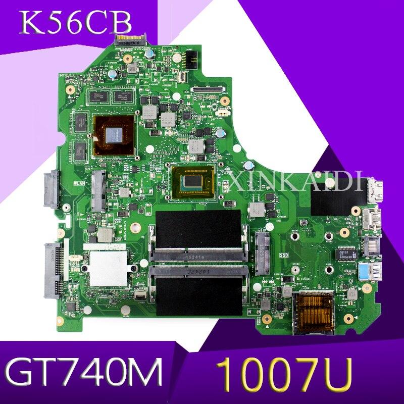 XinKaidi K56CB Laptop motherboard for ASUS K56CB K56CM K56C A56C S550CB S550C Test original mainboard 1007U GT740M/2GBXinKaidi K56CB Laptop motherboard for ASUS K56CB K56CM K56C A56C S550CB S550C Test original mainboard 1007U GT740M/2GB