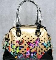 Pvc transparent niedliche schmetterling einkaufstasche frauen handtaschen strand schönheit UMHÄNGETASCHE sommer strandtasche candy handtasche