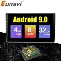 9/10 дюймов Android 9,0 универсальный автомобильный Радио 2 din android автомобильный Радио DVD плеер с gps навигатором wifi Bluetooth