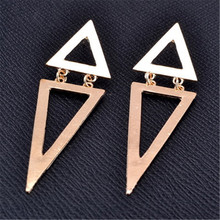 2014 Wholesale jewelry fashion hollow out big triangle earrings