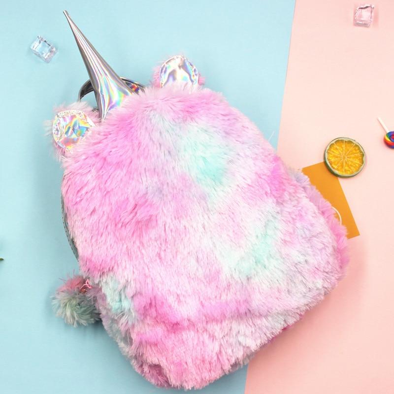 2019 Women Sequins Backpack Cute Unicorn Schoolbag For Teenage Student Girls Satchel Female Mochila De Couro Backpack School Bag