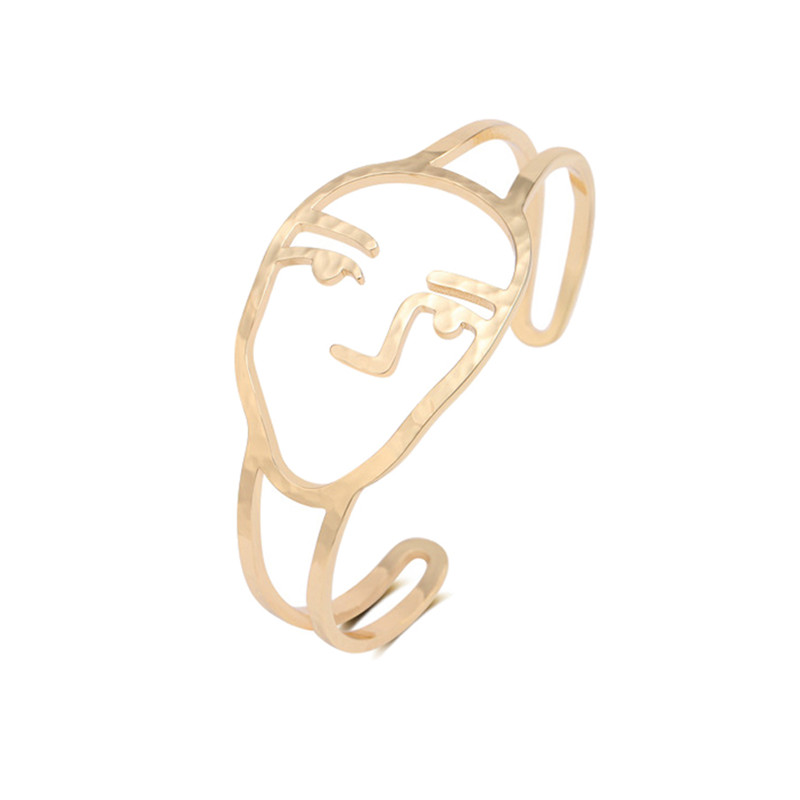 European and American fashion abstract face geometry curve line space-time fashion accessories jewelry bracelet