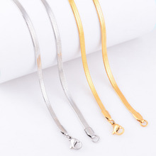 Free Shipping Chain Stainless Steel Necklace For Women Men Gold and Silver Color Fashion Chain Jewelry Gift
