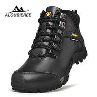 2018 Новый Для мужчин кожа Пеший Туризм Сапоги Водонепроницаемый Для мужчин Маутейн ботинки восхождение на открытом воздухе мужчин высокие т
