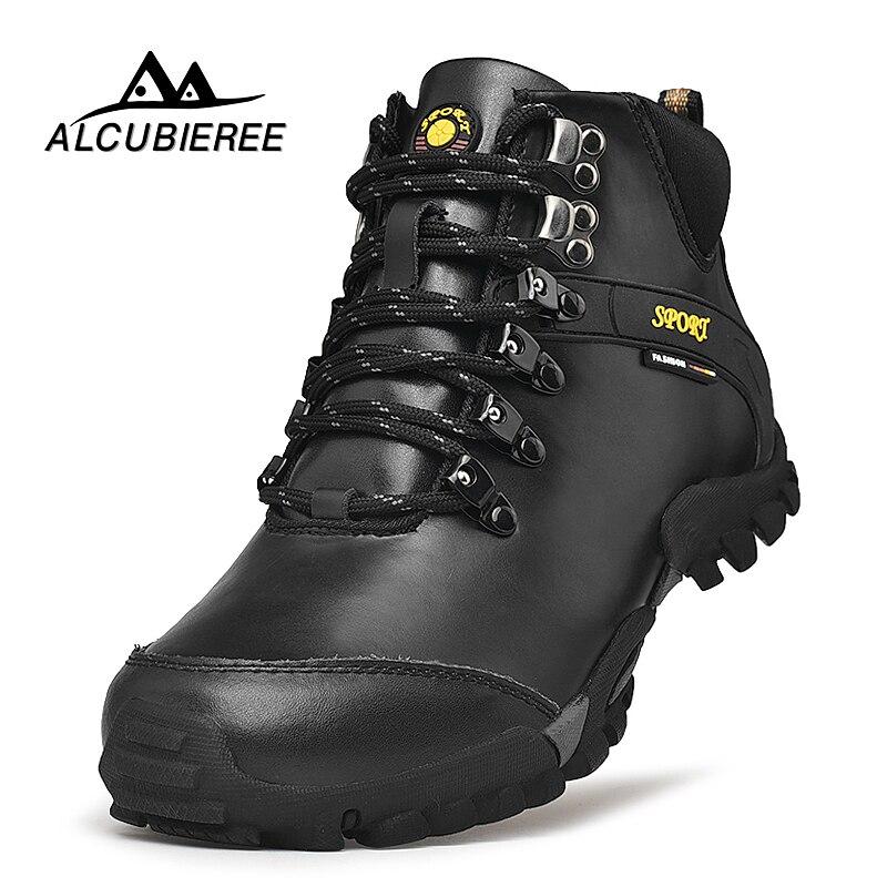 2018 Nouveaux Hommes Bottes de Randonnée En Cuir Imperméable Hommes Mountain Bottes Chaussures Escalade En Plein Air Mâle Haute Top Trekking Chaussures