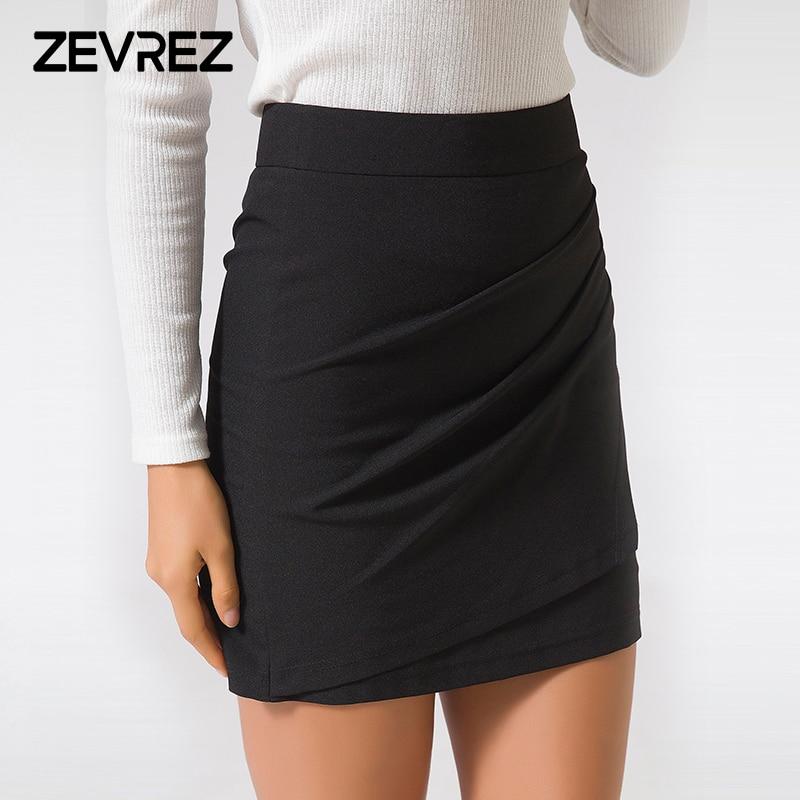 4e5e556ca XS 5XL Plus Size Black Pencil Skirt Summer 2018 Bodycon High Waist Skirts  Work Office Slim Women's Tight Sexy Mini Skirt Zevrez-in Skirts from Women's  ...
