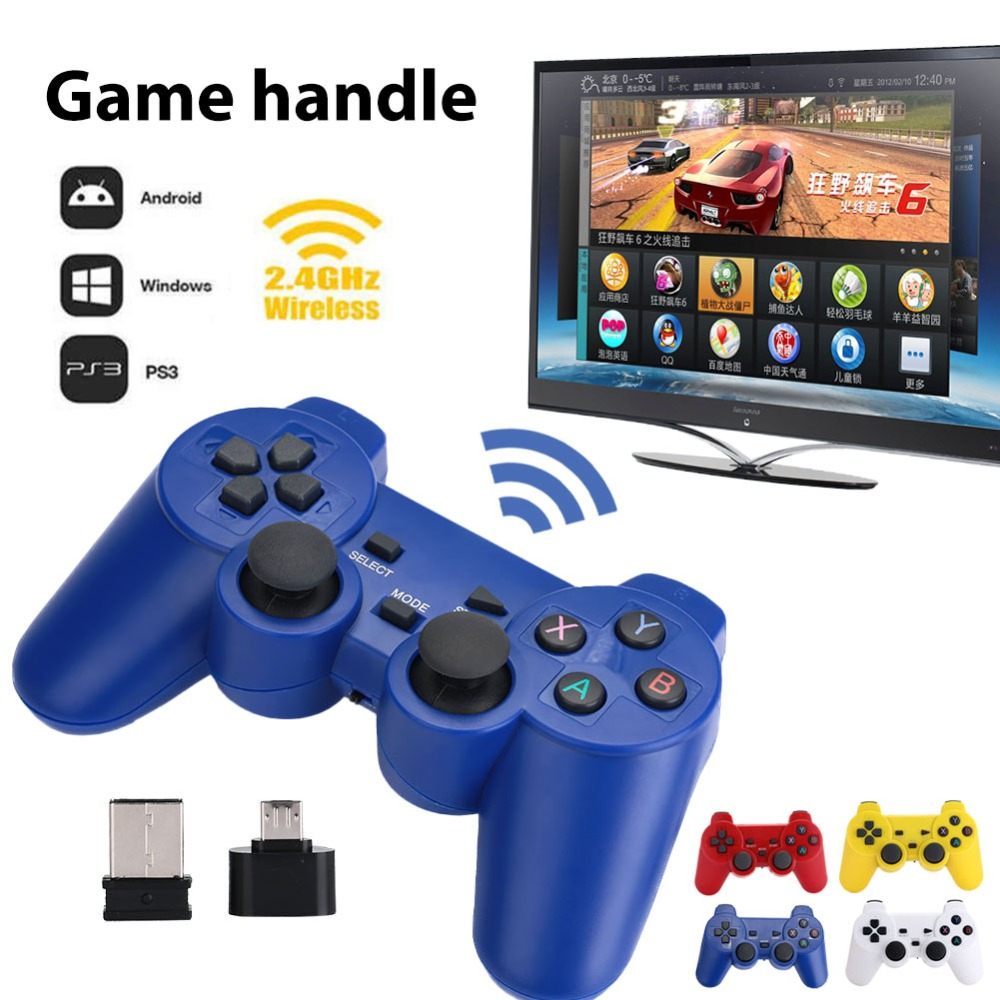 Gasky Hot 2.4GHz Wireless Dual Joystick Control Stick Game Controller Gamepad Joy-con For PS3 windows 7 8 10 TV Box Android PC gasky mini wireless gamepad pc for ps3 tv box joystick 2 4g joypad game controller remote for xiaomi android pc win 7 8 10