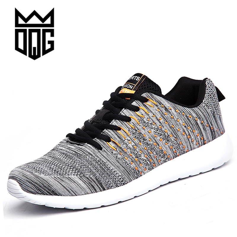 DQG Brand Sneakers Men Running Shoes Breathable Flynit Man Sneaker Lightweight Sport Shoes Comfortable Outdoor Zapatillas