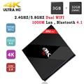 H96 pro Plus 3G 32G Android 6.0 Smart TV Caja Amlogic S912 Octa núcleo Dual WIFI BT 4.1 Soporte H.265 UHD 4 K Android TV Set Top caja