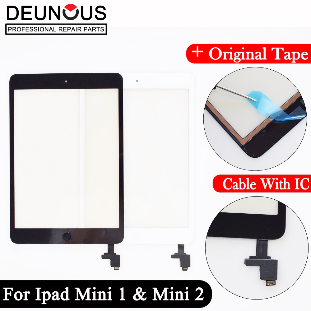 Replacement New Touch Screen + Home Button+Flex Cable + Camera Holder For iPad Mini 1 A1432 A1454 A1455 Mini 2 A1489 A1490 A149