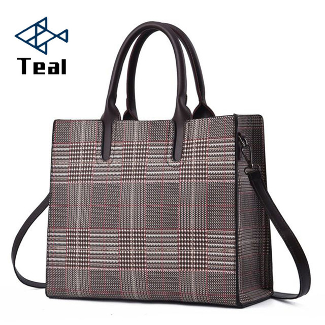 women handbags Female shoulder bag for ladies tote bag Messenger crossbody leather famous brands high quality lattice pattern