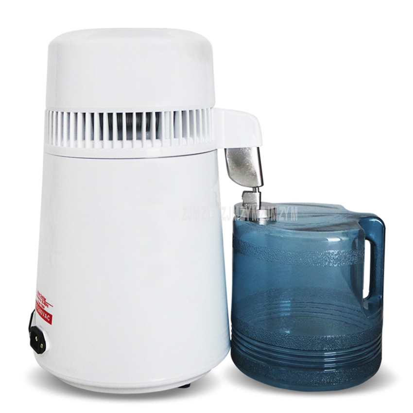 4L 750W Household Pure Water Distiller Distilled Water Machine Stainless Steel Health Water Distillation Purifier 1L/H 110V/220V