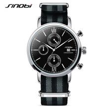 SINOBI Hombres Relojes Deportivos Militar de LA OTAN de Nylon Correa de Reloj Hombre Cronógrafo de Cuarzo Reloj de Pulsera Impermeable de James Bond 007 Reloj G74
