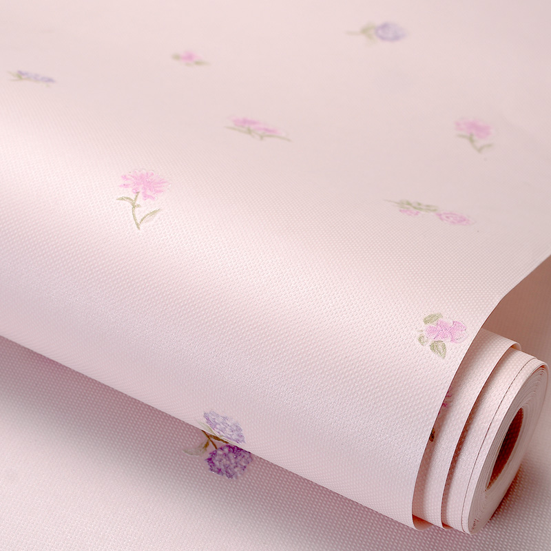 Romantic Pastoral Non-woven Fabric Pink Floral Wallpaper For Walls Roll Children Room Girls Bedroom Wall Decoration Wallpaper 3D beibehang embossed american pastoral flowers wallpaper roll floral non woven wall paper wallpaper for walls 3 d living room