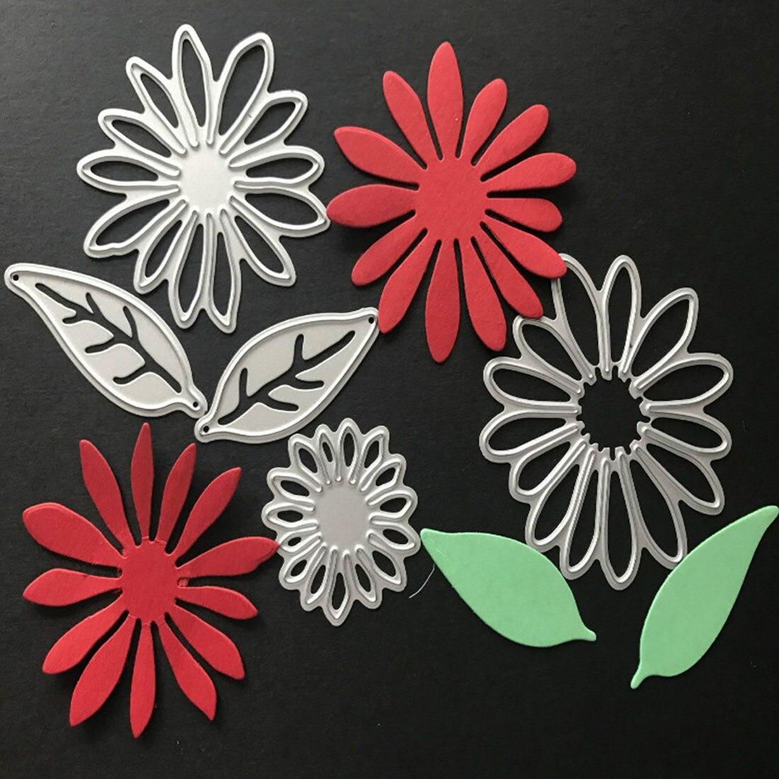 6Pcs Leaves Flowers Metal Cutting Dies For DIY Scrapbooking Album Paper Cards  R