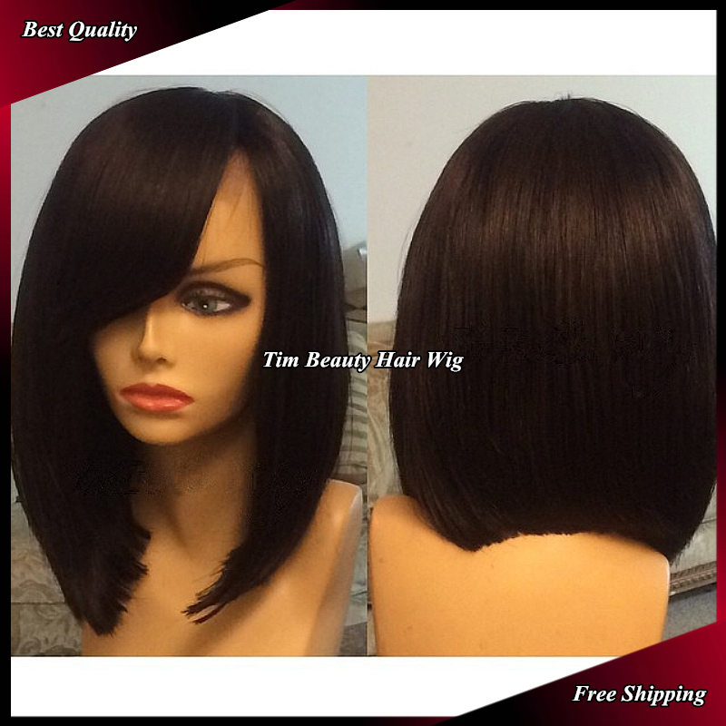 hot selling new short black straight synthetic wig heat resistant bob wigs  with bangs Synthetic Lace Front wig on Aliexpress.com  253ee85e2