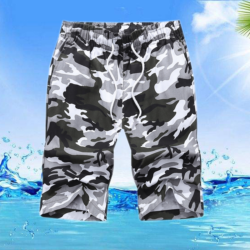 ICPANS Plus Size M-6XL Casual Shorts For Summer Cotton Leisure  Short Pants Camouflage Men's Shorts 2019 New