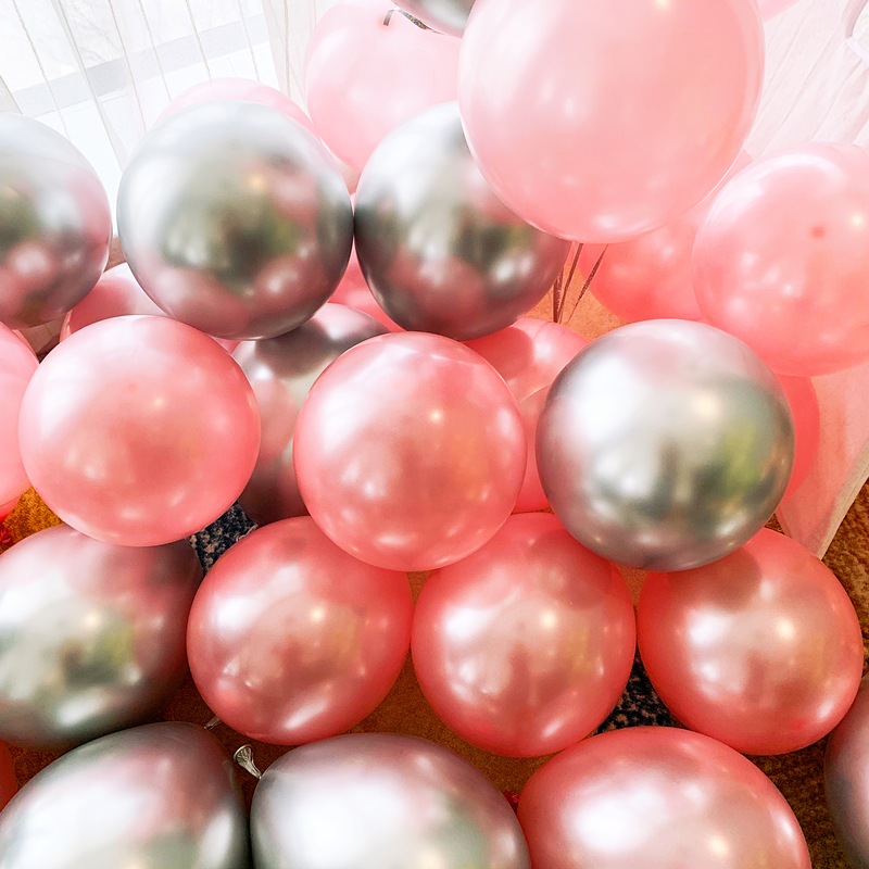 12pcs/lot Gold Silver Chrome Metallic Balloons For Wedding Bridal Shower Theme 8