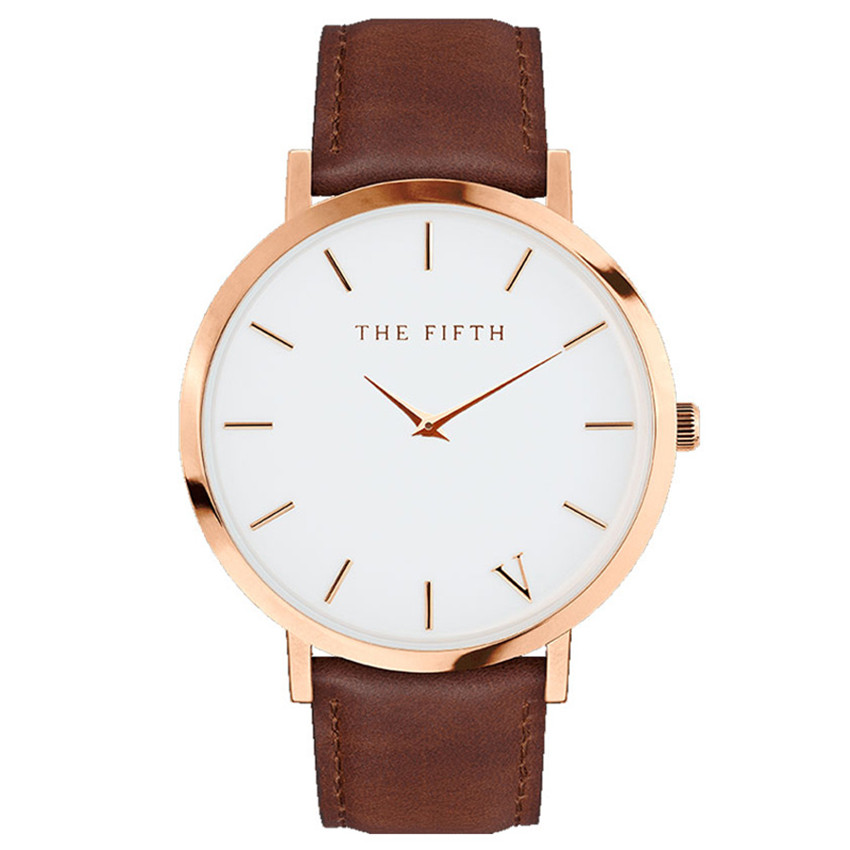 2018 THE FIFTH Minimalist design Casual Luxury Brand Leather Quartz Women Watch Gift Watches dropship Luxury Brand Women Watches 1