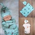 Moda Criança Cobertores Do Bebê Recém-nascido Da Menina do Menino Quente de Natal Cervos Bonitos Macio Estiramento Envoltório Swaddle Cobertor