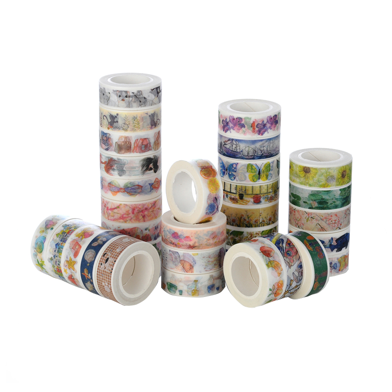 1 Pcs 10m * 15mm Building City Paper Washi Tape Adhesive Tape Diy Scrapbooking Sticker Label Masking Tape Office School Supplies magic rabbit city liz animal sticker diy jewelry 45pcs office new sticker label scrapbook