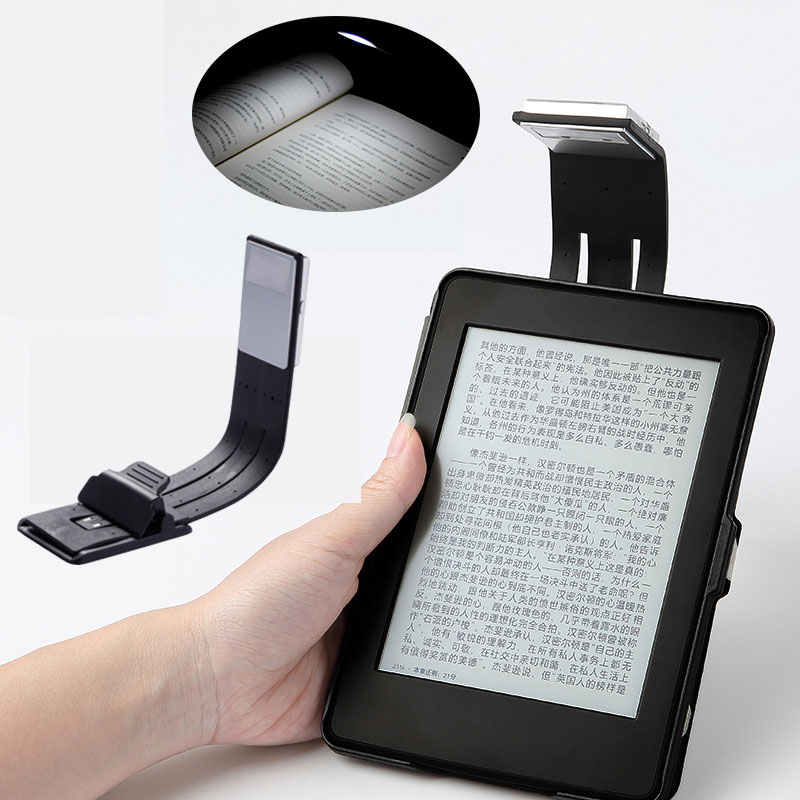 Rechargeable E-book Led Light For Kindle Paper USB Led Power Bank Reading Lamp 4 Intensities Lighting Flexible E-read Book Light(China)