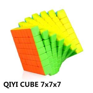 Image 3 - Qiyi Qixing S 7X7X7 Magische Snelheid Stickerloze Kubus Professionele Puzzel Cubes Brain Teaser Volwassen Draaien Soepel speelgoed Voor Kinderen