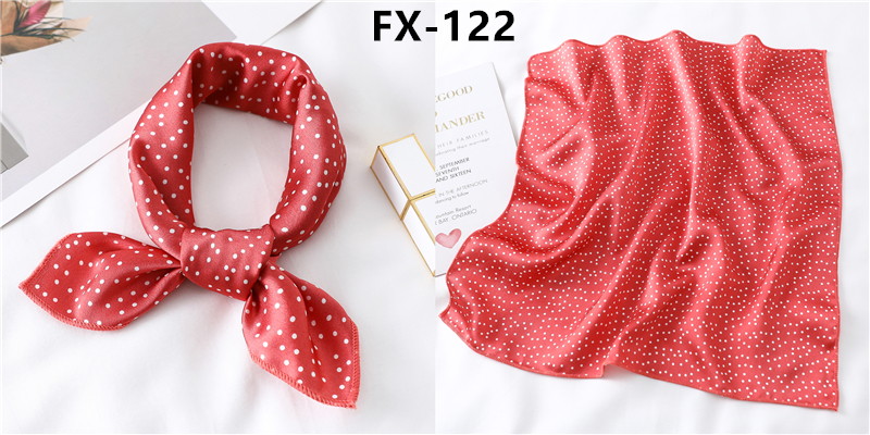 HTB1 OxBb9SD3KVjSZFKq6z10VXaY - Square Scarf Women Hair Tie Band for Party Elegant Small Vintage Skinny Retro Head Neck Silk Satin scarves handkerchief foulard