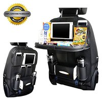 BigAnt Newest Car Seat Back Organizer Bag PU Leather Multifunctional Trunk Organizer Portable Tissue Storage Bag