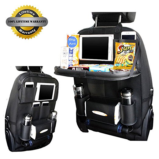 BigAnt Newest Car Seat Back Organizer Bag PU Leather Multifunctional Trunk Organizer Portable Tissue Storage Bag Stowing Tidying