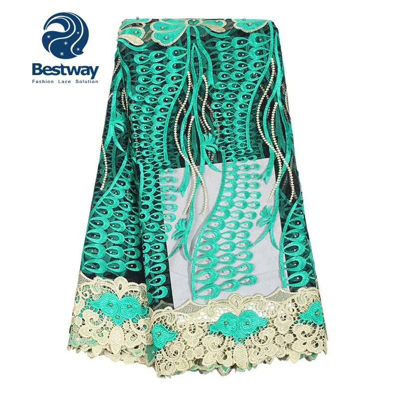 Bestway Αφρικανική Υφασμάτινη Lace Beaded Lace - Τέχνες, βιοτεχνίες και ράψιμο - Φωτογραφία 4