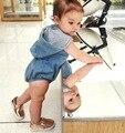 Os Novos Desgaste das Crianças da Moda Cowboy Terno Do Bebê Romper Do Bebê subir Roupas Para 0-2 Anos de Idade Feitos À Mão Do Bebê da Alta Qualidade terno
