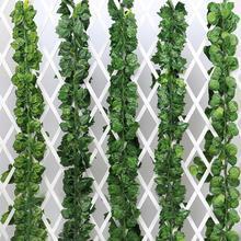 Горячая распродажа! 2 м искусственный виноград Parthenocissus листья лоза открытый настенный садовый декор искусственные растения