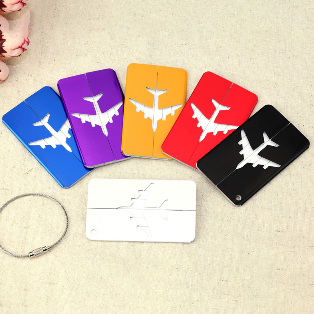 New Mini Rectangle Aluminium Alloy Luggage Tags Travel Accessories Baggage Name Tags Suitcase Address Label Holder