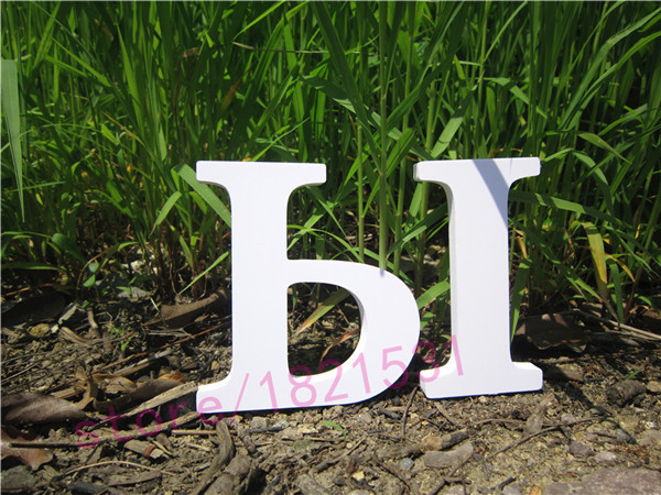 Russian Letter Alphabet 20cm Home Decor Decoration Artificial  Wood Wooden White Letters Word Birthday Wedding  Decoration