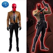 2016 New Fashion Batman Jason Todd Red Hood Cosplay Costume Halloween Costumes for Adult Men