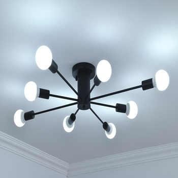 E27 Multiple Rod Wrought Iron Ceiling Lighting 110V 240V Indoor Lighting fixture LED Ceiling lamp kitchen home decor light - Category 🛒 Lights & Lighting