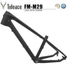 цена на 2019 NEW 24er Carbon mtb Frame UD 13.5inch mountain bike carbon frame 135*9mm max 2.3 tire mtb bicycle frames Kids bike frame
