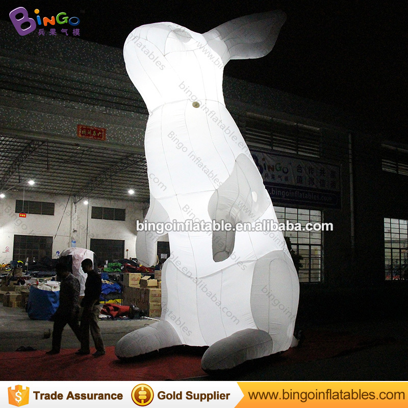 LED lighting 6 Meters tall large inflatable bunny customized color change giant inflatable rabbit decoration toy sports