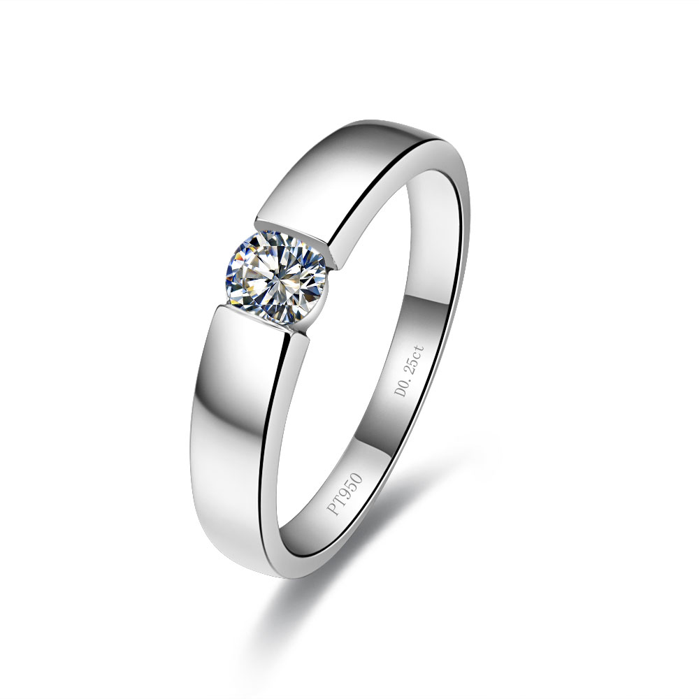 c40d67e4f0 Detail Feedback Questions about 0.25CT Wonderful Lovely Diamond Rings Man  Genuine 925 Sterling Silver Platinum Plated Rings for Engagement on  Aliexpress.com ...