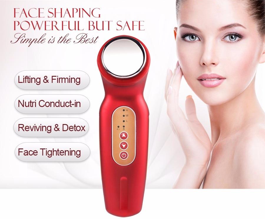 ФОТО Facial Body Lifting Firming V Shape Beauty Equipment Massager Electric Ultrasonic Cleaner skin care tool Beauty Device